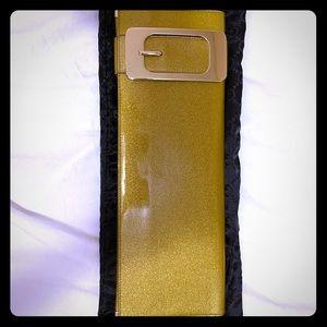 Authentic Gucci gold clutch bag